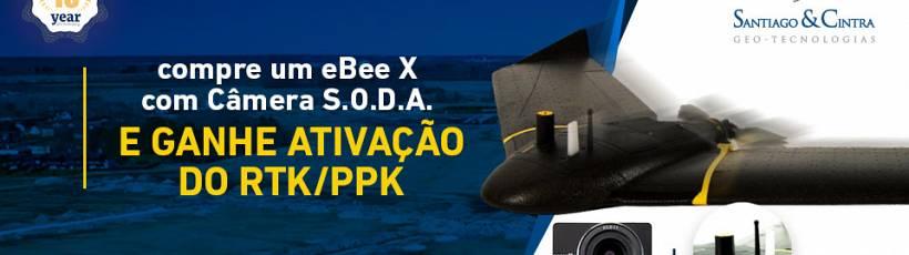 Adquira o eBee X com câmera S.O.D.A. e ganhe ativação PPK/RTK.