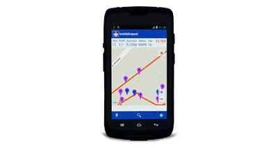 Coletor de dados MobileMapper 50