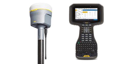 Receptor GNSS Trimble R12i com controlador Trimble TSC5